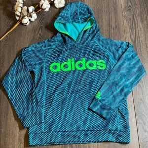 Adidas Funky Wave Print Pull Over/ Hoodie YL